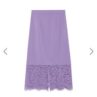 フレイアイディー(FRAY I.D)の新品 フレイアイディー スカート ラベンダー 紫 パープル ロングスカート(ロングスカート)