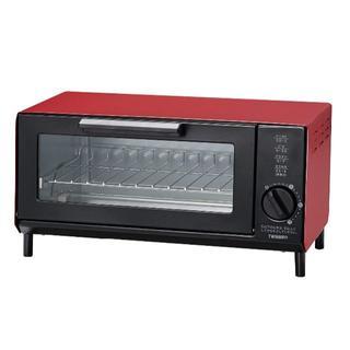 ツインバード(TWINBIRD)のTWINBIRD トーストが美味しい ロースタイルオーブントースター  レッド(調理機器)