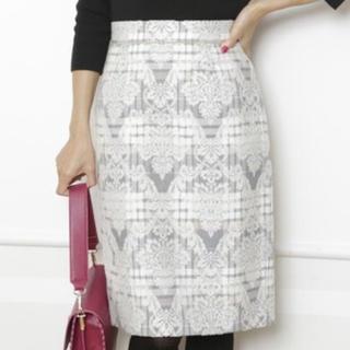 Apuweiser-riche - チェックジャガードタイトスカート