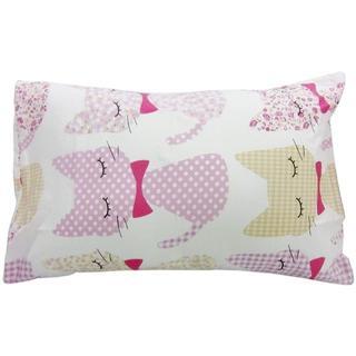 ニシカワ(西川)の京都西川【枕カバー】43×63cm ネコちゃん柄(ピンク)Pillowcase(シーツ/カバー)