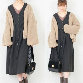 natural couture - 新品 every very nice claup 前ボタンワンピース