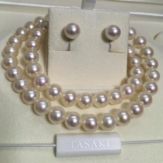 タサキ(TASAKI)の【美品】Tasaki パールネックレス8-8.5mm未満約42.5cm(ネックレス)