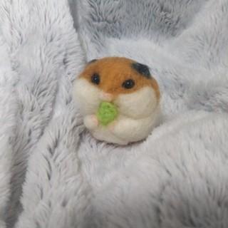 羊毛フェルト   キャベツゴールデンハムスター(ぬいぐるみ)