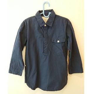 クアドロ(QUADRO)のquadro 七分丈プルオーバーネイビーシャツ(シャツ)