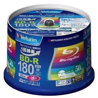 1回録画用 BD-R(片面1層/1-6倍速/50枚)(DVDプレーヤー)