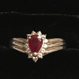 ジュエリーマキ(ジュエリーマキ)のジュエリーマキ pt850 ルビー ダイヤモンド リング(リング(指輪))
