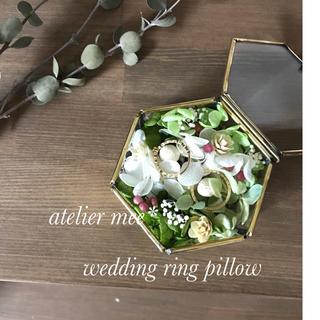 green White  ring pillow(リングピロー)