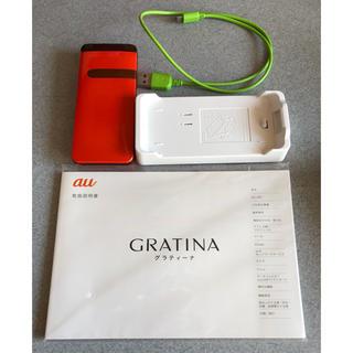キョウセラ(京セラ)のau GRATINA KYY06 (京セラ) グラティーナ オレンジ(携帯電話本体)