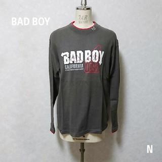 バッドボーイ(BADBOY)のBADBOY メンズ長袖カットソー ダークグレー Mサイズ(Tシャツ/カットソー(七分/長袖))