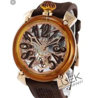 ガガミラノ(GaGa MILANO)のガガミラノ クリスタル スケルトン マニュアーレ 48mm 腕時計 Y-3(腕時計(アナログ))