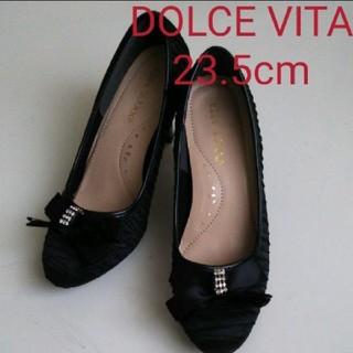 ドルチェビータ(Dolce Vita)のDOLCE VITA 美品 パンプス ブラック(ハイヒール/パンプス)