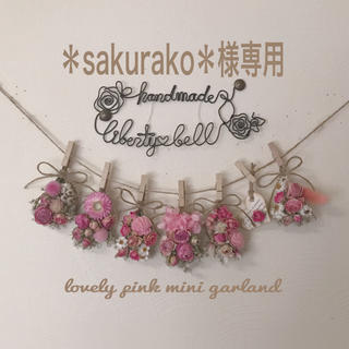 *sakurako*様専用 mini garland(ドライフラワー)