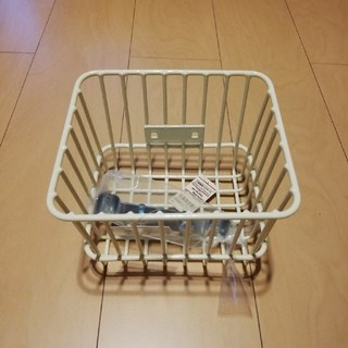 MUJI (無印良品) - 無印良品 三輪車用 バスケット かご 子供用 アイボリー