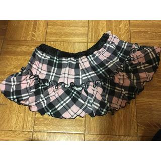 グラマラスジェーン(GLAMOROUS JANE)のグラマラスジェーン スカパン 美品 ピンクチェック(ミニスカート)