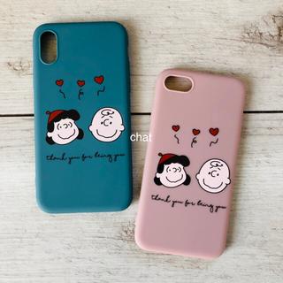 アップル(Apple)の新品♡ PEANUTS スヌーピー♡チャーリーブラウン&ルーシー♡iPhone(iPhoneケース)