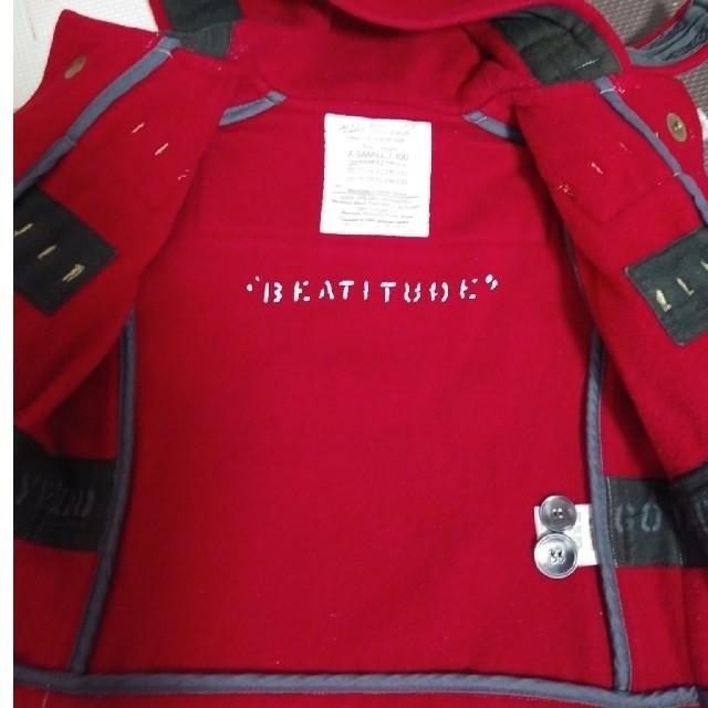 GO TO HOLLYWOOD(ゴートゥーハリウッド)のゴートゥハリウッド 赤 ダッフルコート キッズ/ベビー/マタニティのキッズ服女の子用(90cm~)(コート)の商品写真