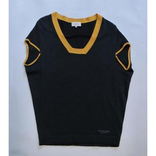 トラサルディ(Trussardi)のTRUSSARDI GOLF トラサルディ チャコールグレーの半袖セーター40(ニット/セーター)