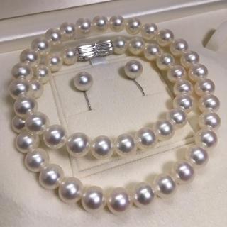 タサキ(TASAKI)の【超美品】【しろくまむすび様専用】Tasaki8-8.5mm未満k18ダイヤ付き(ネックレス)