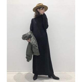 L'Appartement DEUXIEME CLASSE - 新品 アパルトモン タートルネック Knit ワンピース ブラック 送料込
