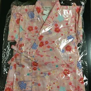 新品!さくら柄 甚平スーツ 95cm ピンク 日本製(甚平/浴衣)