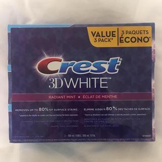 クレスト(Crest)の【新品未使用】crest 3D ラディアントミント歯磨き粉♡(歯磨き粉)