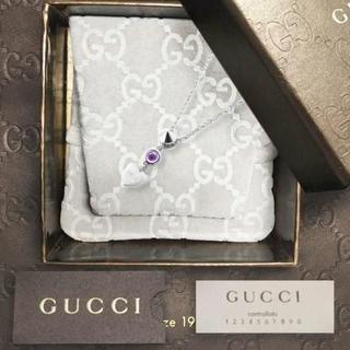 Gucci - 未使用 グッチ ハートアメジストネックレス