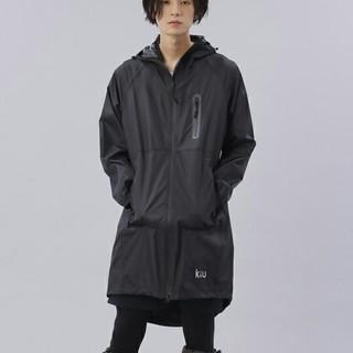キウ(KiU)のkiu レインコート 黒   男女兼用   新品タグ付き ナノ・ユニバース(レインコート)