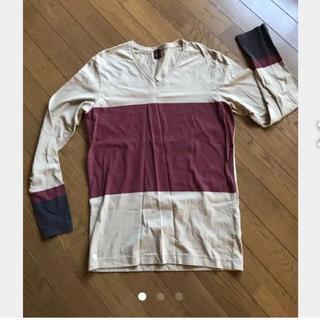 タケオキクチ(TAKEO KIKUCHI)のタケオキクチ、VネックTシャツ!美品。(Tシャツ/カットソー(半袖/袖なし))