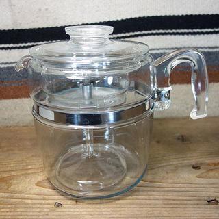 パイレックス(Pyrex)のオールドパイレックス パーコレーター9cup 7759-B 853 直火可能(調理道具/製菓道具)