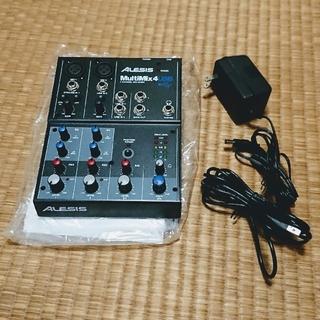 ALESIS デスクトップミキサー MultiMix 4USB 歌ってみた 録音(ミキサー)