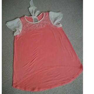 ネットディマミーナ(NETTO di MAMMINA)のネットディマミーナ チュニックTシャツ Mサイズ サーモンピンク(Tシャツ(半袖/袖なし))