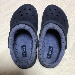 クロックス(crocs)のクロックス  ボア付き  17.5cm(サンダル)