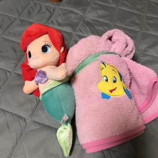 ディズニー(Disney)のアリエル☆ひざ掛け(毛布)