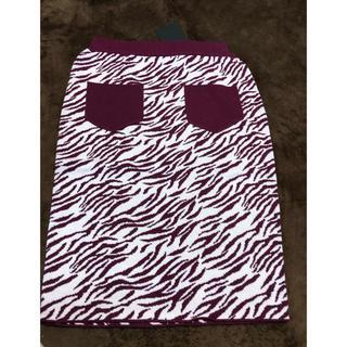 カウイジャミール(KAWI JAMELE)の新品タグ付⭐️kawijamele  ゼブラニットタイトスカート(ひざ丈スカート)