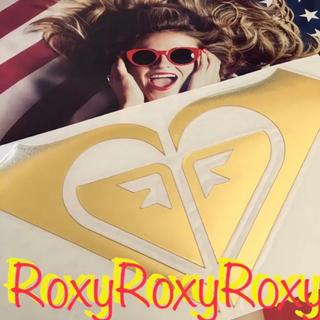 ロキシー(Roxy)のロキシーROXYハワイUS限定BIGダイカットICONステッカーGOLD(サーフィン)