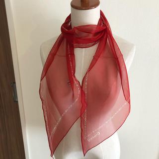 キャシャレル(cacharel)の新品 日本製 シフォン ブランドスカーフ キャシャレル(バンダナ/スカーフ)