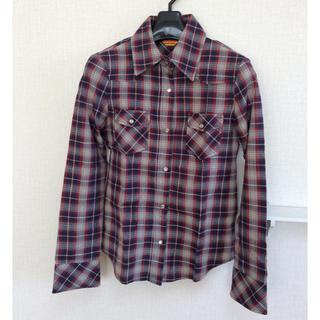 グラマラスガーデン(GLAMOROUS GARDEN)の美品 チェックシャツ グラマラスガーデンズ Mサイズ 格安 GAP GU ザラ(シャツ/ブラウス(長袖/七分))