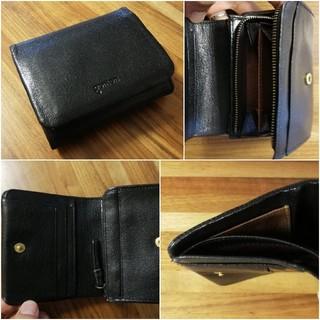 ゲンテン(genten)の未使用 ゲンテン genten 二つ折り財布 小銭入れ 黒 ブラック クロ(財布)