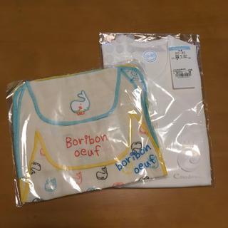 コンビミニ(Combi mini)のコンビミニ 短肌着 boribon oeuf 汗取りガーゼ セット 出産準備(肌着/下着)