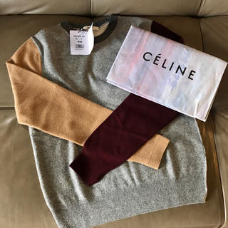 3714e790cf86 セリーヌ(celine)の新品♡ CELINE セリーヌ カラーブロックウール クルーネック ニット(