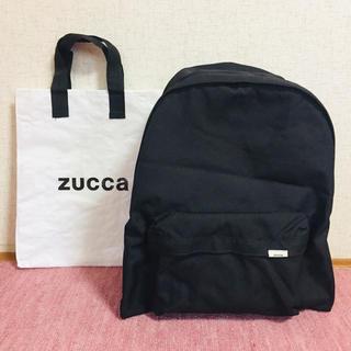 カバンドズッカ(CABANE de ZUCCa)のzucca リュック バックパック 黒 ショッパー付き(リュック/バックパック)