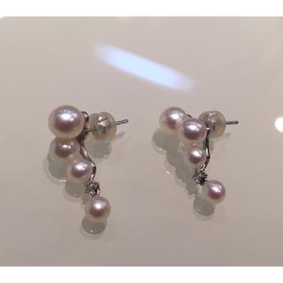 タサキ(TASAKI)の真珠&ダイヤ パールピアス ミキモト タサキ(ピアス)