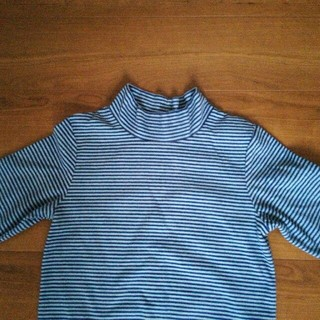 GU - gu 140 タートルネック フリース Tシャツ  カットソー