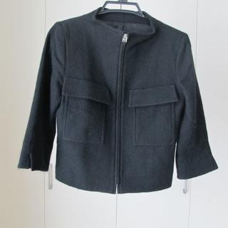 ノーベスパジオ(NOVESPAZIO)のNOVESPAZIO サイズ38 ブラック ウール ジャケット(ノーカラージャケット)