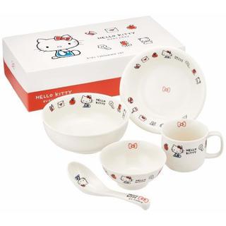 サンリオ - ハローキティ こども食器 ギフトセット 陶器