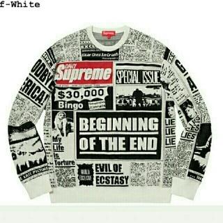 シュプリーム(Supreme)のsupreme Newsprint Sweater M(ニット/セーター)