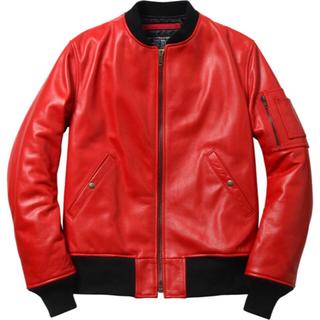 シュプリーム(Supreme)のSupreme Schott Leather MA-1 MA1 Jacket(レザージャケット)