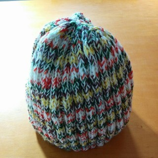 手編み ニット帽(帽子)