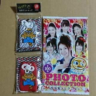 キョウラク(KYORAKU)の京楽 お守りストラップ & AKB48チームZ生写真コレクション(パチンコ/パチスロ)
