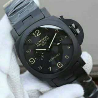 パネライ(PANERAI)のパネライルミノール1950 3デイズ GMT トゥットネロ(腕時計(アナログ))